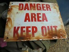 VINTAGE  ENAMEL  SIGN  BELIEVED  MILITARY