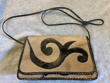 Authentic Vintage Carlos Falchi Exotic Fur And Snake Skin Clutch Purse Pristine