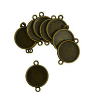 30x Blank Bezel Base for 20 mm Cabochon Jewelry DIY Charms Connector Bronze