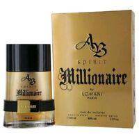 AB Spirit Millionaire Cologne by Lomani, 3.3 oz EDT Spray for Men NEW