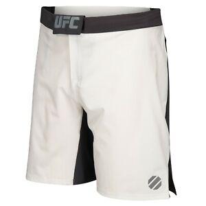 Reebok UFC Men's Chalk White Speedwick Performance Training Fight Shorts AJ0149