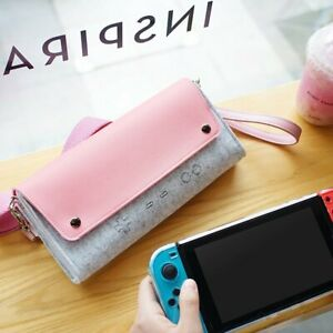 Portable Storage Bag Protective Cover Pink Carrying Case For Nintendo Switch NEW
