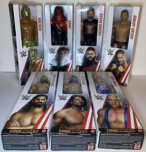 "Mattel WWE True Moves 12"" Action Figure LOT of 7 Kane/Kalisto/Owens/Angle/Styles"