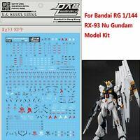 D.L Rg33 Water Decal Sticker Set For Bandai RG 1/144 RX-93 Nu Gundam Model Kit