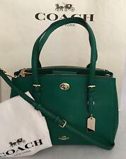 COACH 37782 TURNLOCK Crossgrain Carryall Handbag Purse 29 LI/Forest NWT