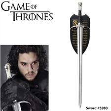 "Game of Thrones 42'' ""LongClaw"" Jon Snow Sword Replica & Plaque #5983"