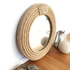 Handmade Nautical Hampton Style Rope Round Mirror Home Decor 56CM
