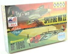 Lindberg Supermarine Spitfire MK 22 & Messerschmitt BF 109G 1:72 Model Kits 445