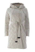 'S MAX MARA Women's Enovef Beige Reversible Quilted Coat Sz 12 $1,395 NWT