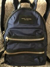 MARC JACOBS New York Women's LEATHER / NYLON Medium Multi Zipper BACKPACK