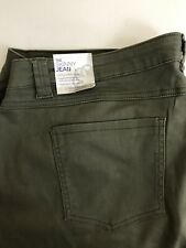 New Catherines The Skinny Jeans Green Women's Plus Size 2X