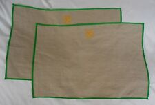 "Mark and Graham Flex Linen Placements Set/2 ""Sb"" Nwot"