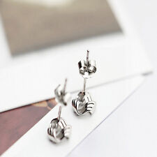 Chic Lovely Small Flow Rhyme Ornaments Platinum Plating Stud Earrings