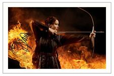 JENNIFER LAWRENCE THE HUNGER GAMES SIGNED PHOTO PRINT AUTOGRAPH KATNISS