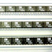 20 x CSI 93C46P EEPROM IC 64x16 8-PIN DIP8 OEM/NOS NEW 1998 Date Code CAT93C46P