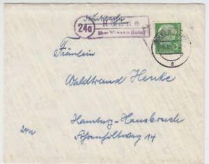 Landpoststempel Rönne über Winsen (Luhe) 1957
