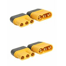 2 Sets/Pairs 24K Gold Plated Copper Genuine Amass MR30 Plug with Sheathed CE UL