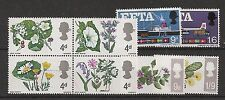 Flowers Great Britain Commemorative Stamps (1960s)