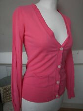 Gap Thin cotton bright pink summer cardigan top XS