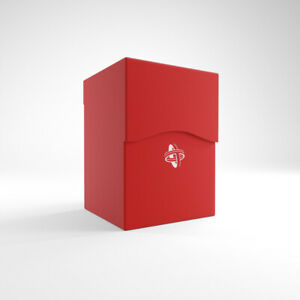 RED DECK BOX ~ 100 Card Holder ~ protect deck building game / sports trading