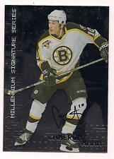 1999/2000 Be A Player Rookie Auto Cameron Mann Boston Bruins