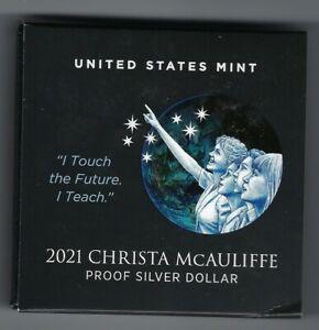 USA: Silber Dollar 2021, Christa McAuliffe, Proof, PP