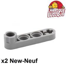 Lego Technic - 2x Liftarm 1x4 thin stud connector bras gris/l b gray 2825 NEUF