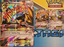 JUMBO Pokemon M Metagross XY35 OVERSIZED Holo AND XY34 Normal sized Promo Card