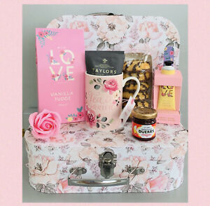LADIES AFTERNOON TEA PAMPER HAMPER GIFT BOX SET FOR HER BIRTHDAY FRIEND MUM NAN
