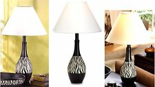 ZEBRA STRIPE TABLE LAMP & SHADE ** NIB
