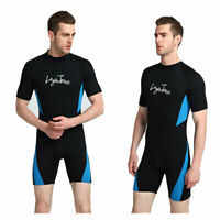 Mens 3mm Shorty Wetsuit Full Body Diving Suit Front Zip Wetsuit for Diving Surf