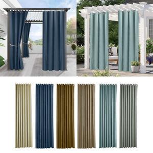 Patio Curtain Outdoor Waterproof Window Curtains Mildew Resistant Curtain