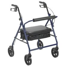 """Drive Medical 10216BL-1 Bariatric Rollator with 8"""" Wheels- Blue NEW"""