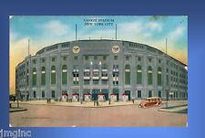 Yankee Stadium,  Postcard reproduction - Postmarked 8/6/1934