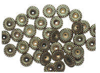 10mm Ripple Antiqued Goldtone Metalized Metallic Beads
