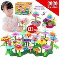 133 Pcs Kids Flower Garden Toys for Children Building Set Outdoor Activities