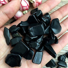 50g About Natural Black Obsidian Rough Rock Polished healing China