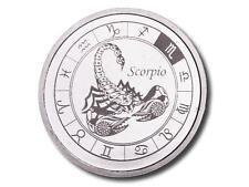 """Zodiac-Horoscope """"SCORPIO"""" 1 oz .999 Fine Silver BU Round in Air-Tite Capsule !"""