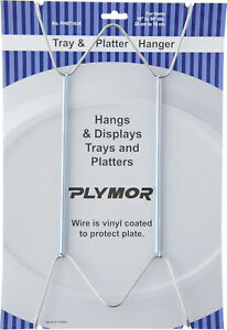 """Plymor Stainless Steel Wall Mountable Tray Hanger, 14.25"""" H x 6.5"""" W x .875"""" D"""