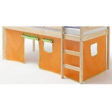 Rideaux pour lits superposés ou surélevés, vert/orange