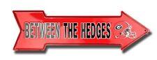 "Georgia Bulldogs Between The Hedges 20"" x 6"" Embossed Metal Arrow Sign - SALE"