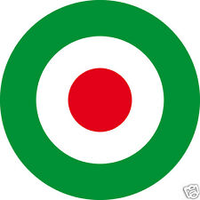 2 Decal Stickers * ITALY RED the center - Cocarde tricolore 5cm