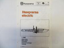 Husqvarna Electric Chainsaw Spare Parts List Model Husqvarna Electric Chainsaw
