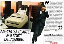 Publicité Advertising 1990 (2 pages) Canon Fax 270