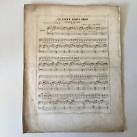 Spartito Piano Il Vecchio Robin Gray Musica Louis Clapisson Francia XIX Secolo