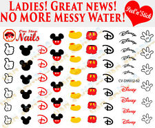 Disney Mickey Mouse Clear Vinyl PEEL and STICK Nail Decals CV-DM002-62