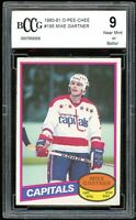 1980-81 O-Pee-Chee #195 Mike Gartner Rookie Card BGS BCCG 9 Near Mint+