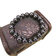 New 10Mm Round Black Stone Bracelet Health Care Magnetic Therapy Bracelet