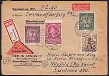 Stamp Collectors During WWII in Nazi Germany 1944 Ahrensburg to Hünfeld & Labels