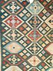 "Handwoven Old Style Afghan Kilim Wool Rug 10' x 15'8"" with Rug Pad"